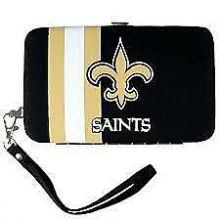 New Orleans Saints Distressed Wallet Wristlet Case