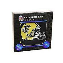 New Orleans Saints 4 pack Flexible Coaster Set