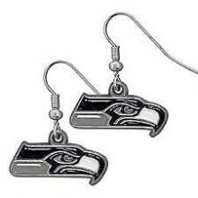 Seattle Seahawks Logo Dangle Earrings