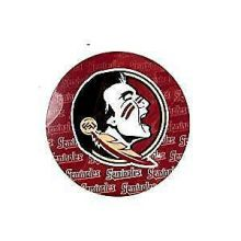"NCAA Officially Licensed Florida State Seminoles Repeating Design 4"" Round Magne"