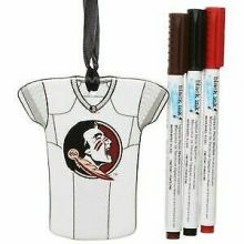 Florida State Seminoles Personalizable Jersey Ornament with Team Color Markers