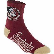 Florida State Seminoles Large Quarter Socks