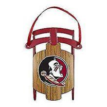 Florida State Seminoles Metal Sled Ornament
