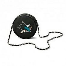 NHL San Jose Sharks  Hockey Puck Crossbody Purse