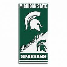 """Michigan State Spartans 28"""" x 58"""" Dual Logo  Beach Towel"""