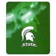Michigan State Spartans Ghost Fleece Throw