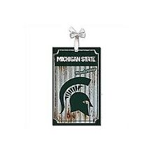 Michigan State Spartans Corrugated Metal Ornament