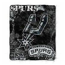 San Antonio Spurs Royal Plush Raschel Fleece Throw Blanket