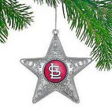 "St. Louis Cardinals  4"" Silver Star Ornament"