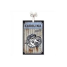North Carolina Tar Heels Corrugated Metal Ornament