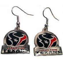 Houston Texans Bar Style Dangle Earrings