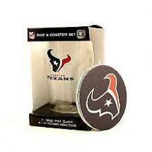 Houston Texans 16oz Pint and Coaster Set