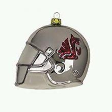 Washington State Cougars Glass Helmet Ornament
