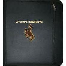 NCAA Wyoming Cowboys 3-Ring Zippered Binder