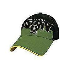 United States Army Black Logo Adjustable Hat