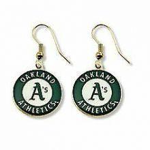 Oakland A's Logo Dangle Earrings