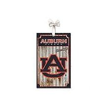 Auburn Tigers Corrugated Metal Ornament