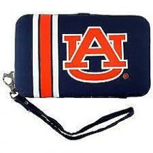 "Auburn Tigers Distressed Wallet Wristlet Case (3.5"" X .5"" X 6"")"