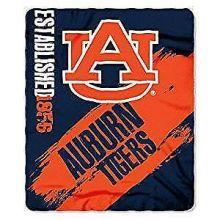 Auburn Tigers Established  Fleece Throw Blanket