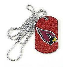 Arizona Cardinals Glitter Dog Tag Necklace