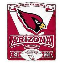 "Arizona Cardinals 50"" x 60"" Marque Fleece Throw Blanket"