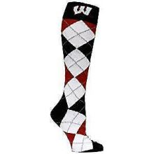 Wisconsin Badgers Argyle Dress Socks
