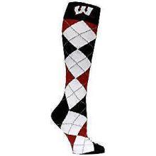 Wisconsin Badgers Argyle Dress Socks