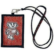 Wisconsin Badgers Beaded Lanyard I.D. Wallet