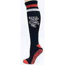 Wisconsin Badgers Tube Socks Black