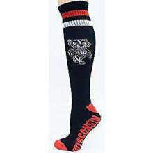 Wisconsin Badgers Tube Socks Black