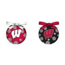 Wisconsin Badgers LED Ball Ornaments Set of 6