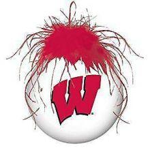 Wisconsin Badgers Glass Helmet Ornament