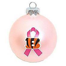 Cincinnati Bengals Breast Cancer Awareness Ornament