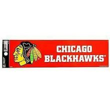 "Chicago Blackhawks 3.5"" X 10.5"" Bumper Sticker"