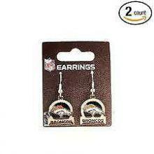 Denver Broncos Bar Style Dangle Earrings