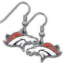 Denver Broncos Logo Dangle Earrings