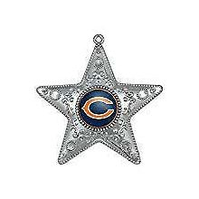 """Chicago Bears 4"""" Silver Star Ornament"""