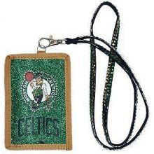 Boston Celtics Beaded Lanyard I.D. Wallet