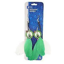 NBA Boston Celtics Team Fan Feather Earrings