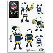 Chargers Family Decals, Small