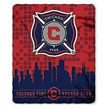 Chicago Fire Light Weight Fleece Blanket