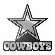 "Dallas Cowboys 3"" Chrome Emblem"