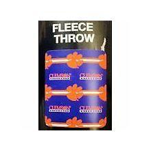 Clemson Tigers 3 Bar Repeater Fleece Throw Blanket