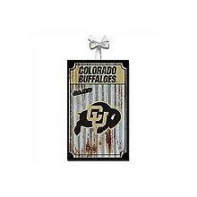 Colorado Buffaloes Corrugated Metal Ornament