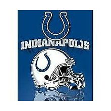 "Indianapolis Colts 50"" x 60"" Gridiron Fleece Throw Blanket"
