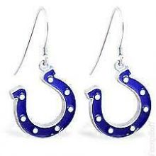 Indianapolis Colts Logo Dangle Earrings