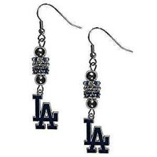 Los Angels Dodgers Euro Bead Earrings