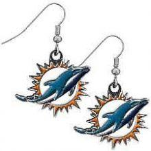 Miami Dolphins Logo Dangle Earrings