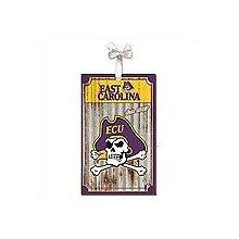 East Carolina Pirates Corrugated Metal Ornament