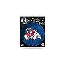 """Fresno State Bulldogs 4"""" Round Vinyl Decal"""